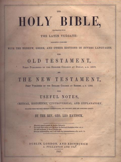 Holy Bible old for sale