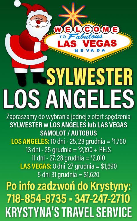 Sylwester w Los Angeles lub w Las Vegas na wycieczce z Nowego Jorku