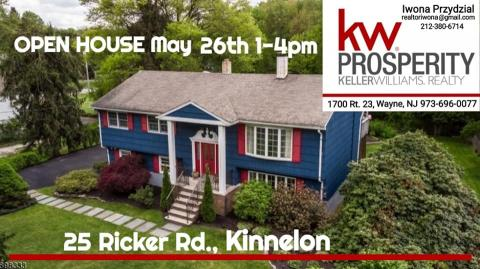 OPEN HOUSE w Kinnelon, NJ, 26 maja 1-4pm