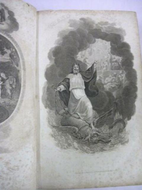 1813 The Holy Bible Old New Testament Adam Clarke Liverpool Etching Jesus Dragon